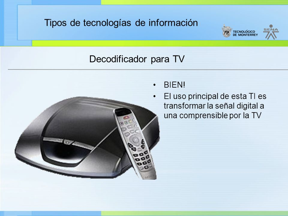 Decodificador para TV BIEN!