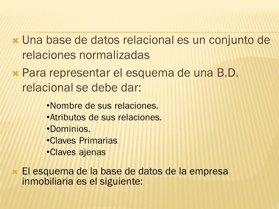 Una base de datos relacional es un conjunto de relaciones normalizadas