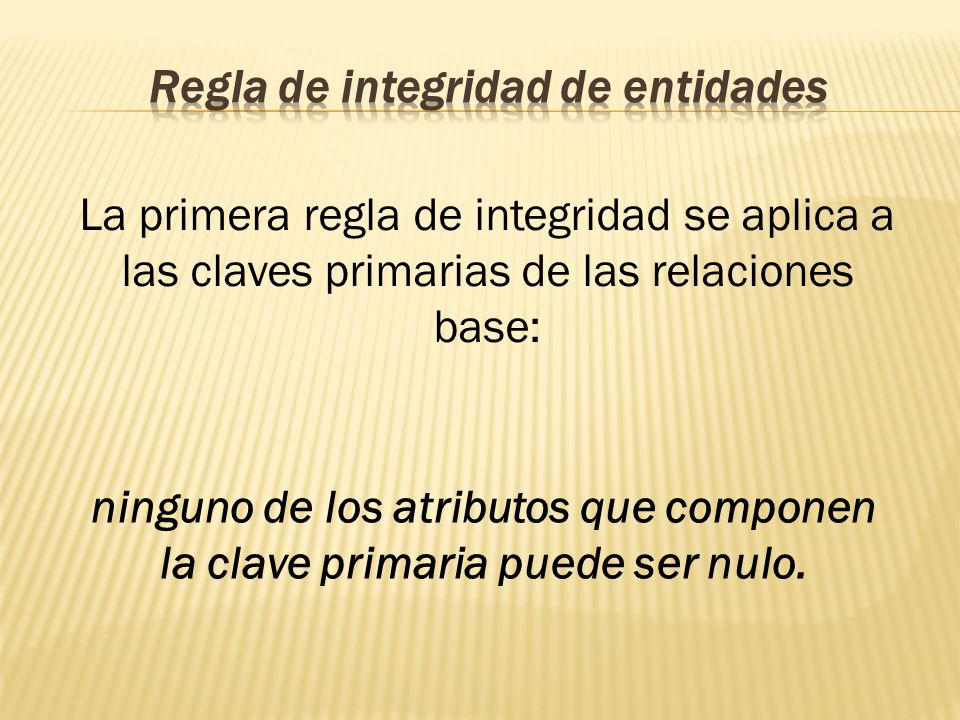 Regla de integridad de entidades