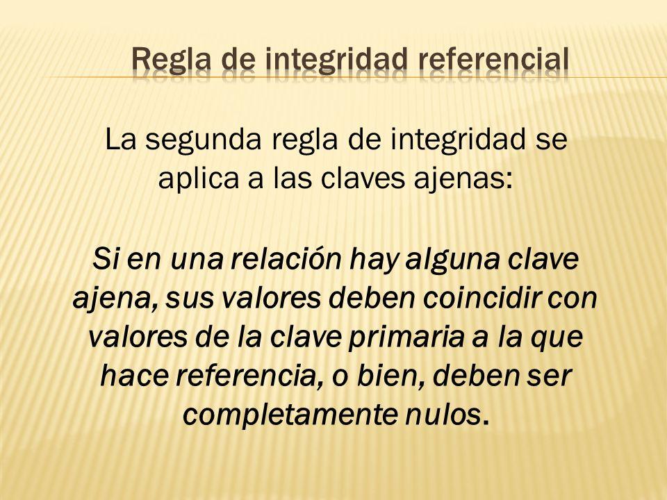 Regla de integridad referencial