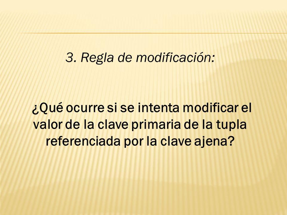 3. Regla de modificación: