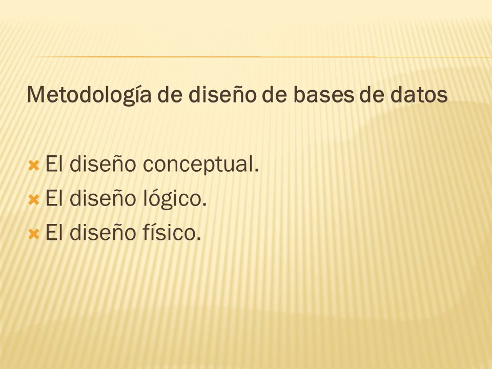 Metodología de diseño de bases de datos