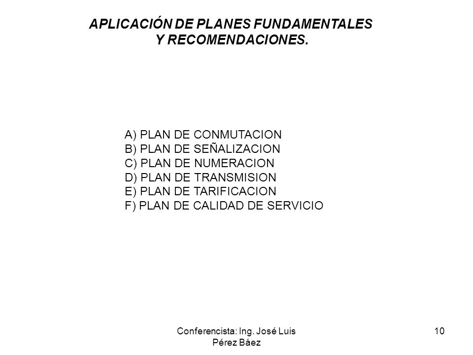 APLICACIÓN DE PLANES FUNDAMENTALES