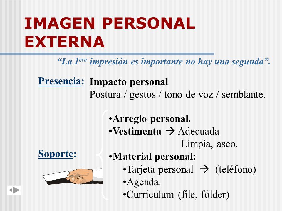 IMAGEN PERSONAL EXTERNA