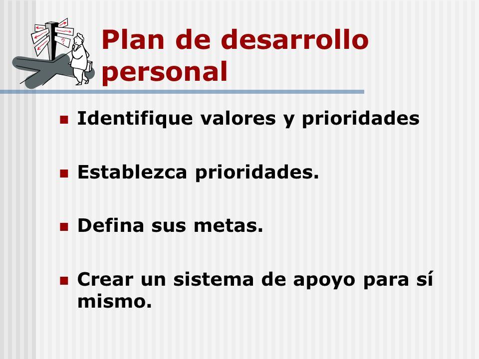 Plan de desarrollo personal