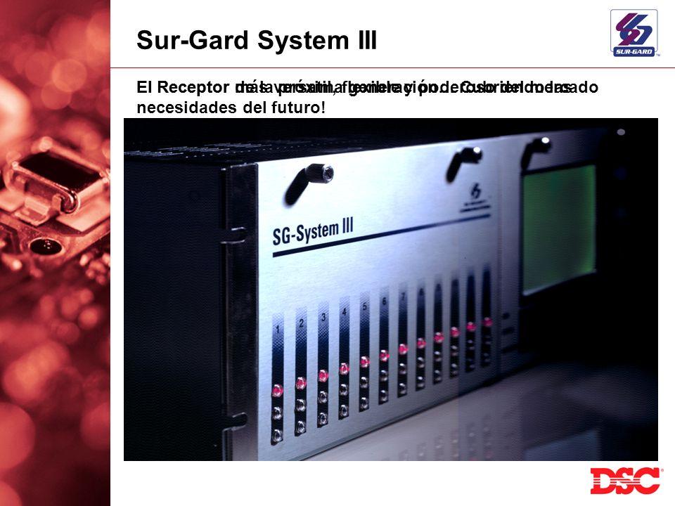 Sur-Gard System III El Receptor más versatil, flexible y poderoso del mercado.