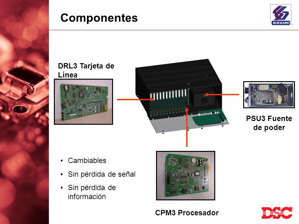 Componentes DRL3 Tarjeta de Línea PSU3 Fuente de poder Cambiables