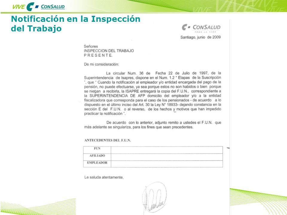 Notificación en la Inspección del Trabajo