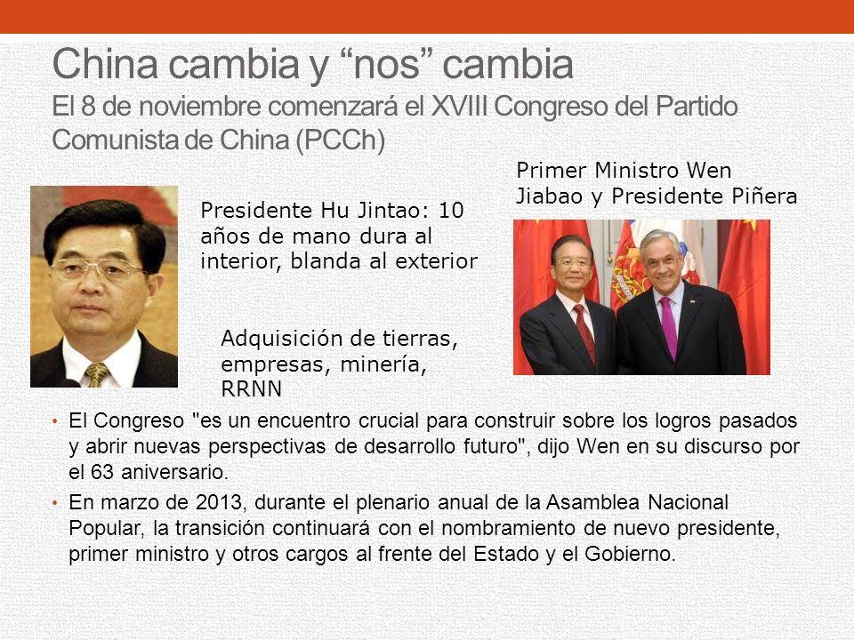 China cambia y nos cambia El 8 de noviembre comenzará el XVIII Congreso del Partido Comunista de China (PCCh)