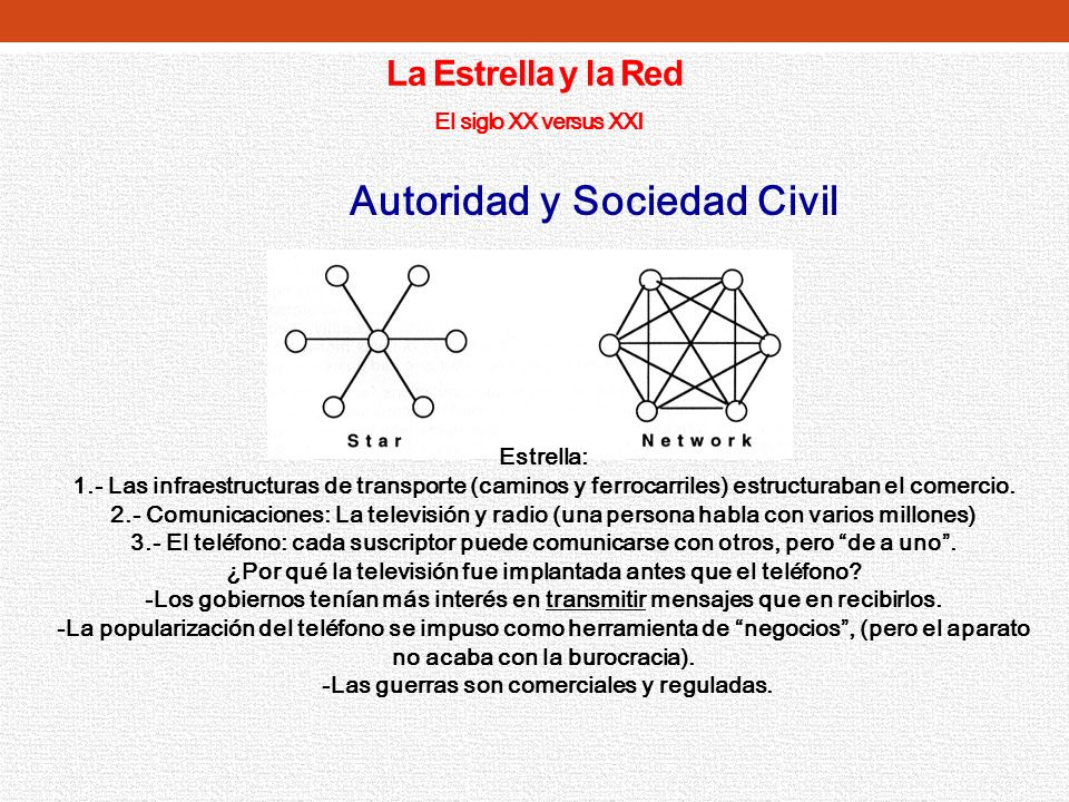 La Estrella y la Red El siglo XX versus XXI