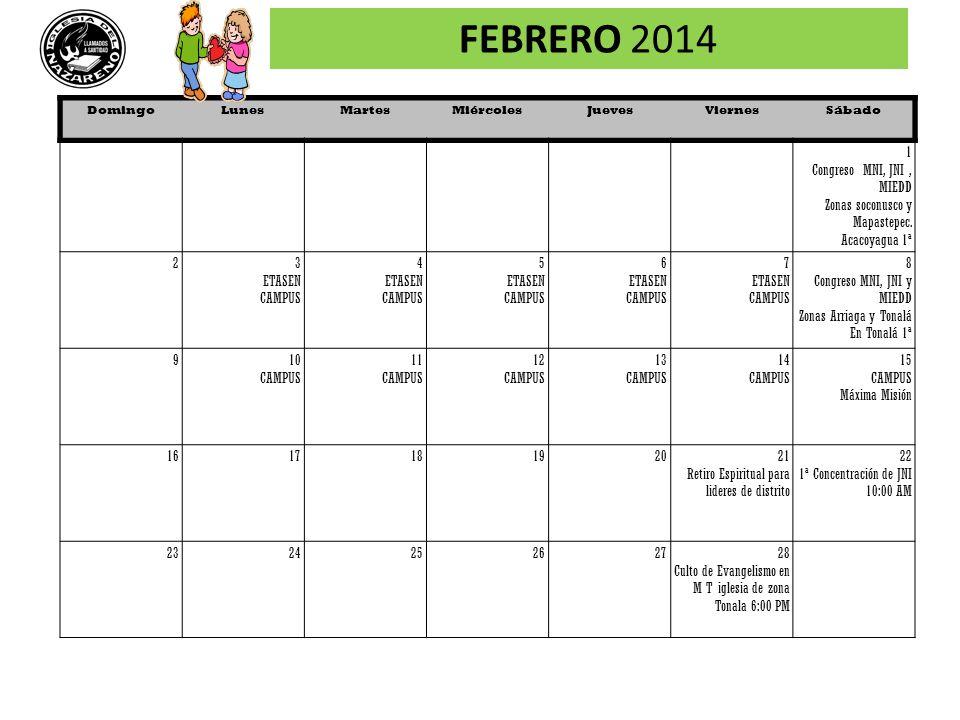 FEBRERO 2014 1 Congreso MNI, JNI , MIEDD Zonas soconusco y Mapastepec.