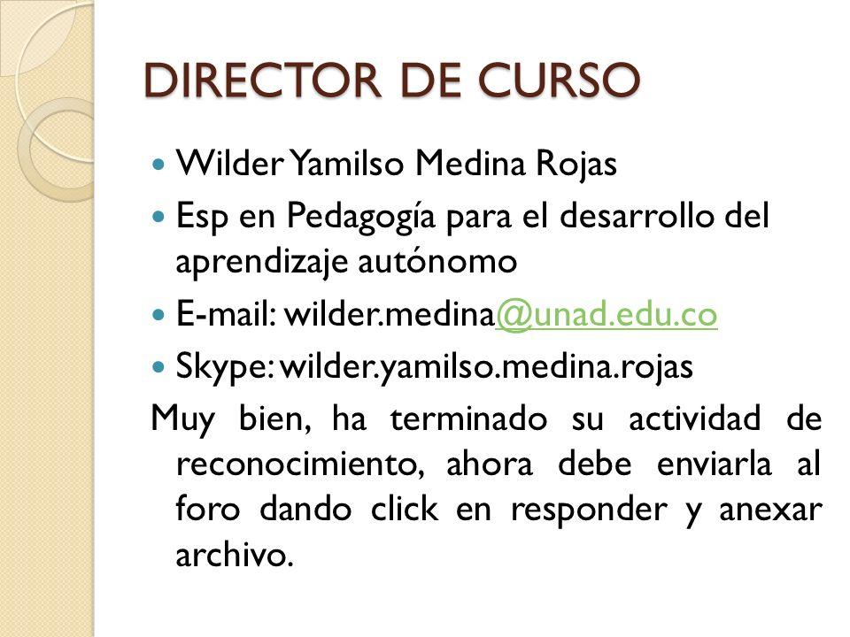 DIRECTOR DE CURSO Wilder Yamilso Medina Rojas