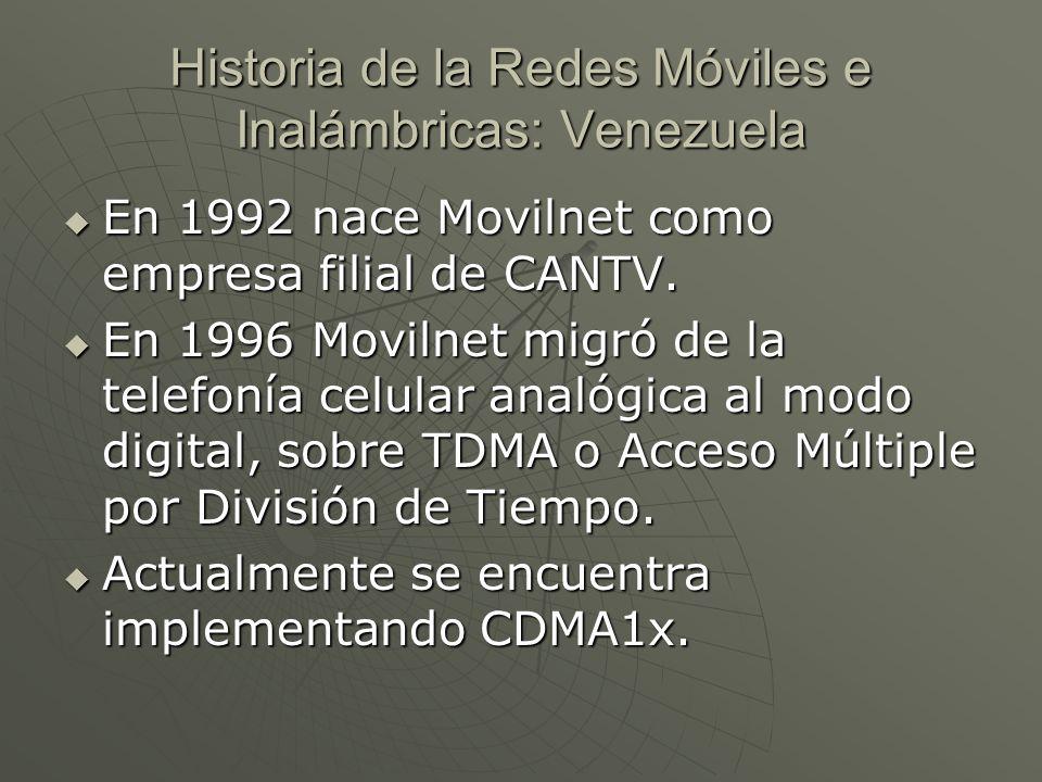 Historia de la Redes Móviles e Inalámbricas: Venezuela