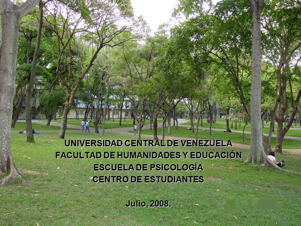 UNIVERSIDAD CENTRAL DE VENEZUELA FACULTAD DE HUMANIDADES Y EDUCACIÓN
