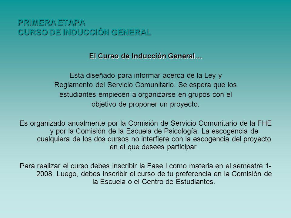 PRIMERA ETAPA CURSO DE INDUCCIÓN GENERAL