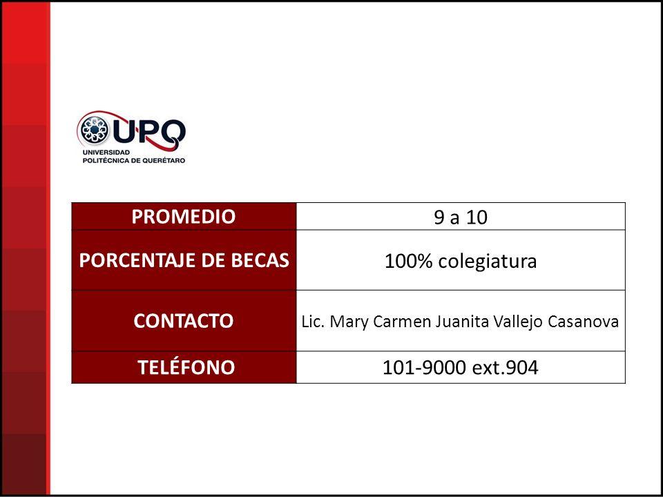 Lic. Mary Carmen Juanita Vallejo Casanova