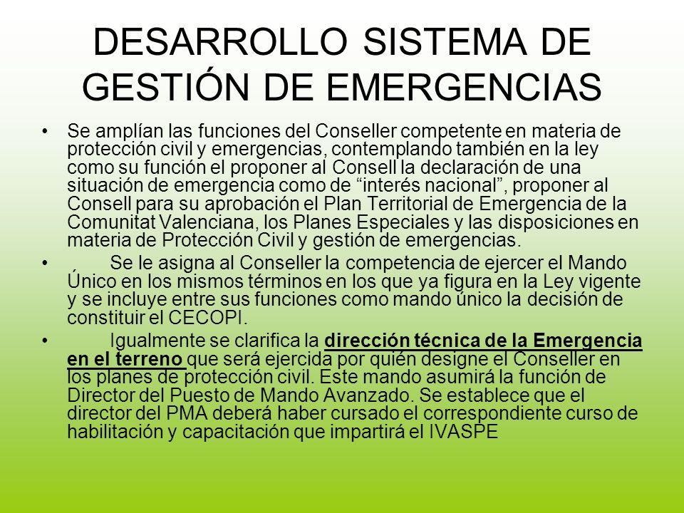 DESARROLLO SISTEMA DE GESTIÓN DE EMERGENCIAS