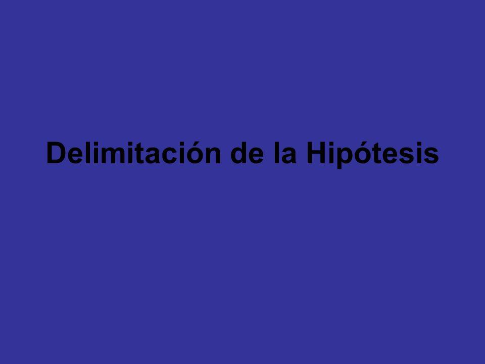 Delimitación de la Hipótesis