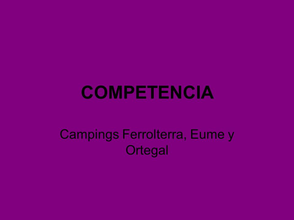 Campings Ferrolterra, Eume y Ortegal
