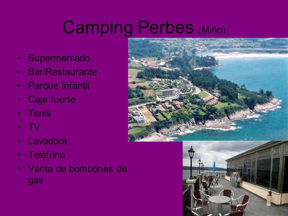 Camping Perbes (Miño) Supermercado Bar/Restaurante Parque infantil