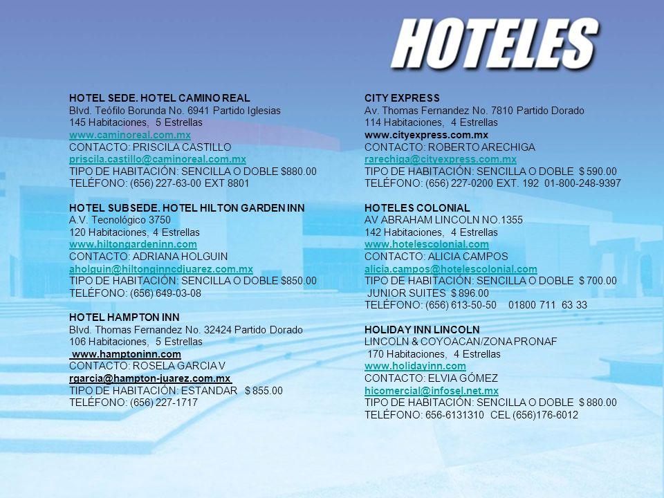 HOTEL SEDE. HOTEL CAMINO REAL