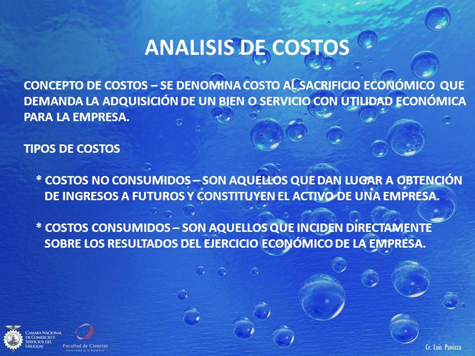 ANALISIS DE COSTOS ANALISIS DE COSTOS