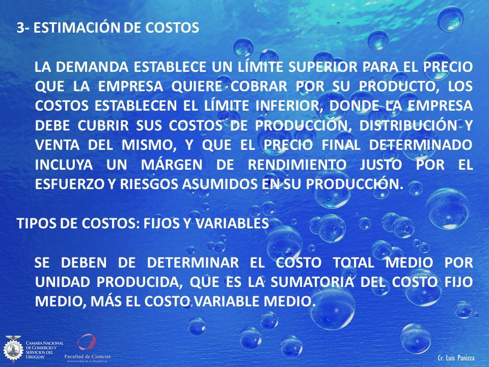 3- ESTIMACIÓN DE COSTOS