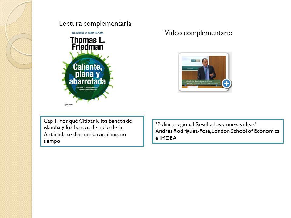 Lectura complementaria: Video complementario