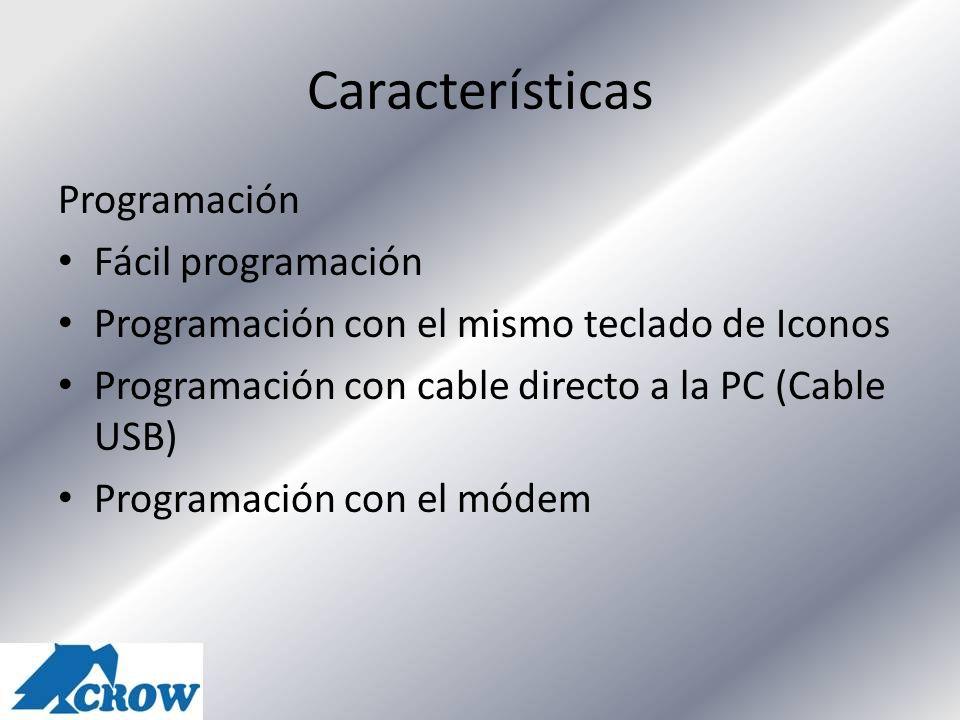 Características Programación Fácil programación