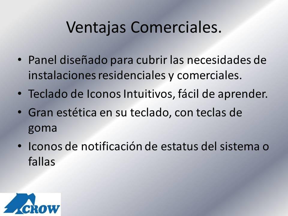 Ventajas Comerciales. Panel diseñado para cubrir las necesidades de instalaciones residenciales y comerciales.