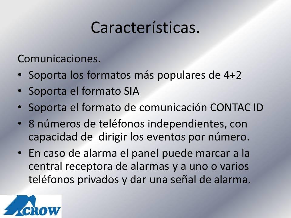 Características. Comunicaciones.