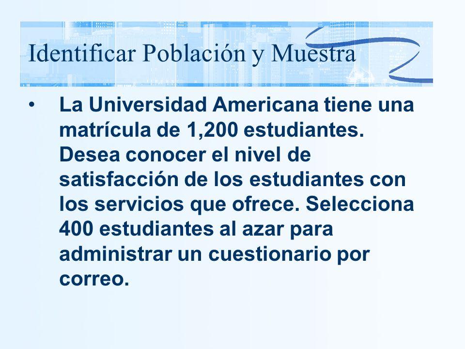 Identificar Población y Muestra