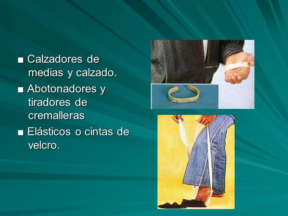 ■ Calzadores de medias y calzado.