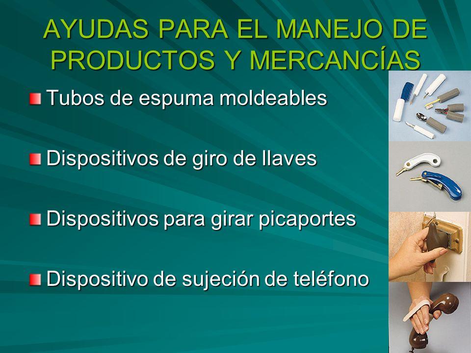 AYUDAS PARA EL MANEJO DE PRODUCTOS Y MERCANCÍAS