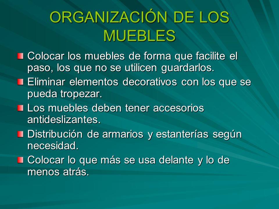 ORGANIZACIÓN DE LOS MUEBLES