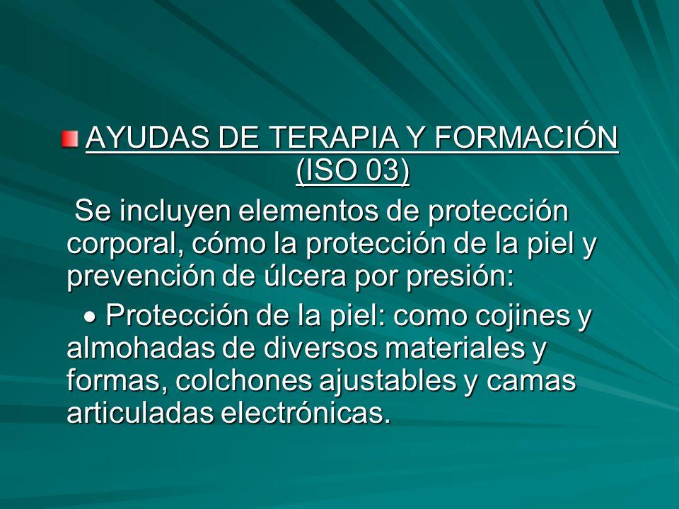AYUDAS DE TERAPIA Y FORMACIÓN (ISO 03)