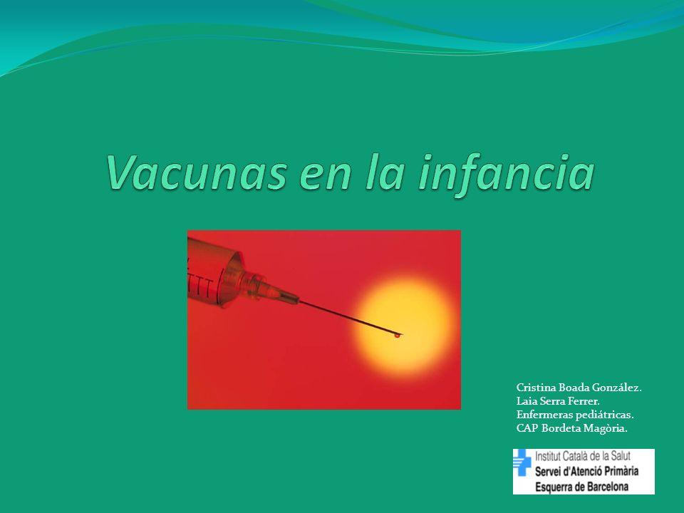 Vacunas en la infancia Cristina Boada González. Laia Serra Ferrer.