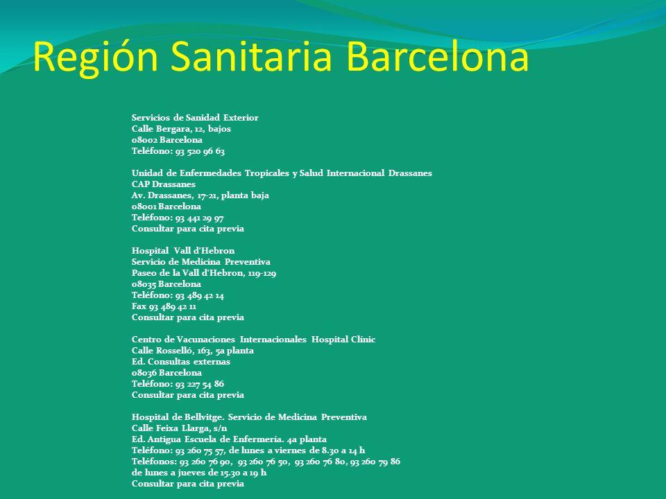 Región Sanitaria Barcelona