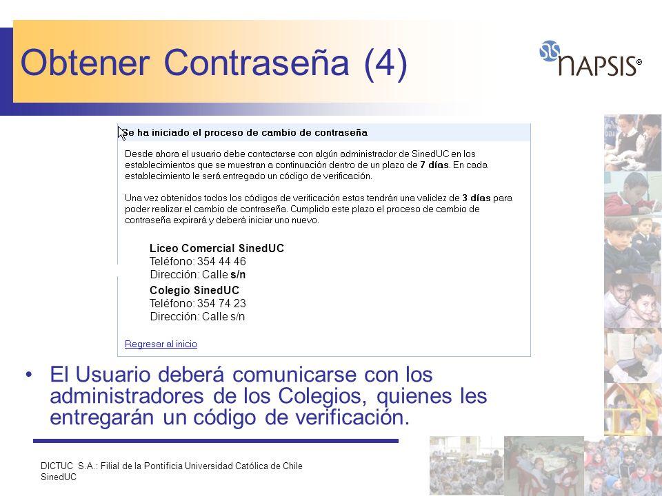 Obtener Contraseña (4) Liceo Comercial SinedUC Teléfono: 354 44 46 Dirección: Calle s/n. Colegio SinedUC Teléfono: 354 74 23 Dirección: Calle s/n.