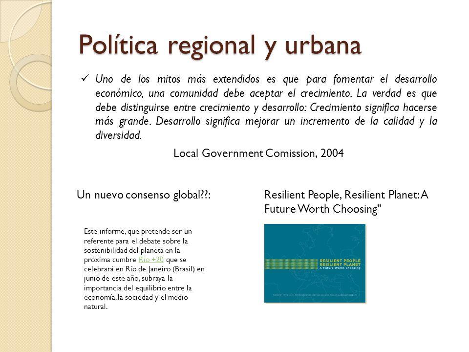 Política regional y urbana
