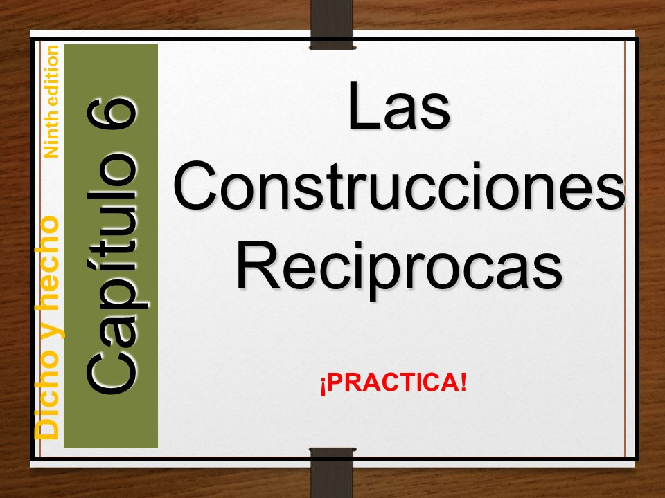 Las Construcciones Reciprocas