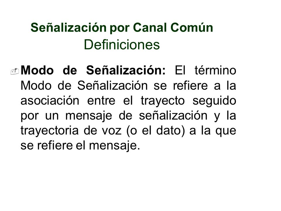 Señalización por Canal Común Definiciones