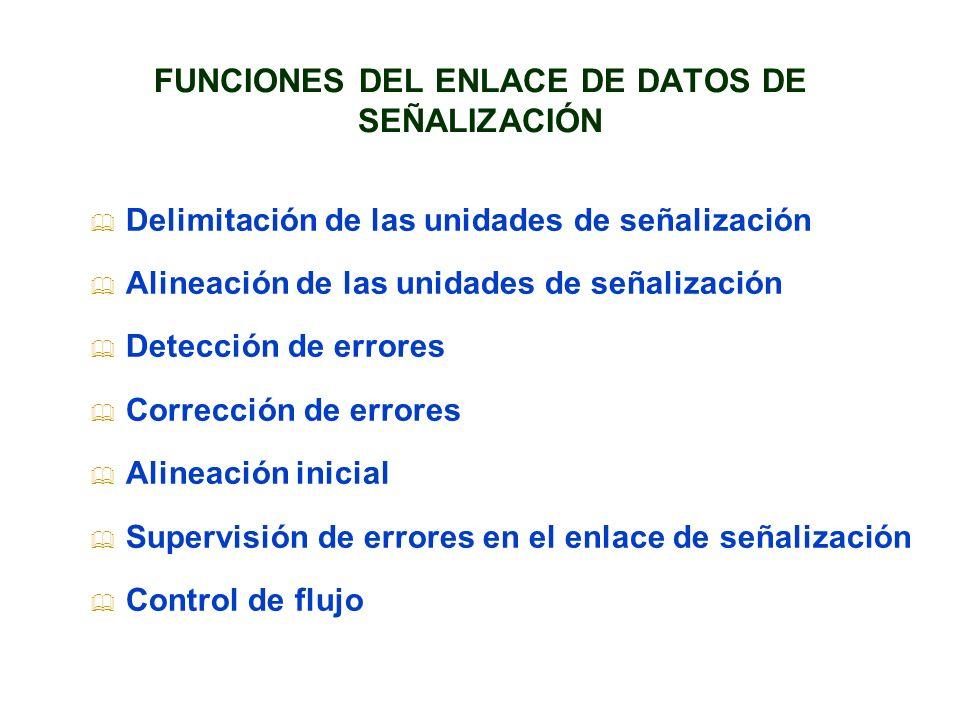 FUNCIONES DEL ENLACE DE DATOS DE SEÑALIZACIÓN