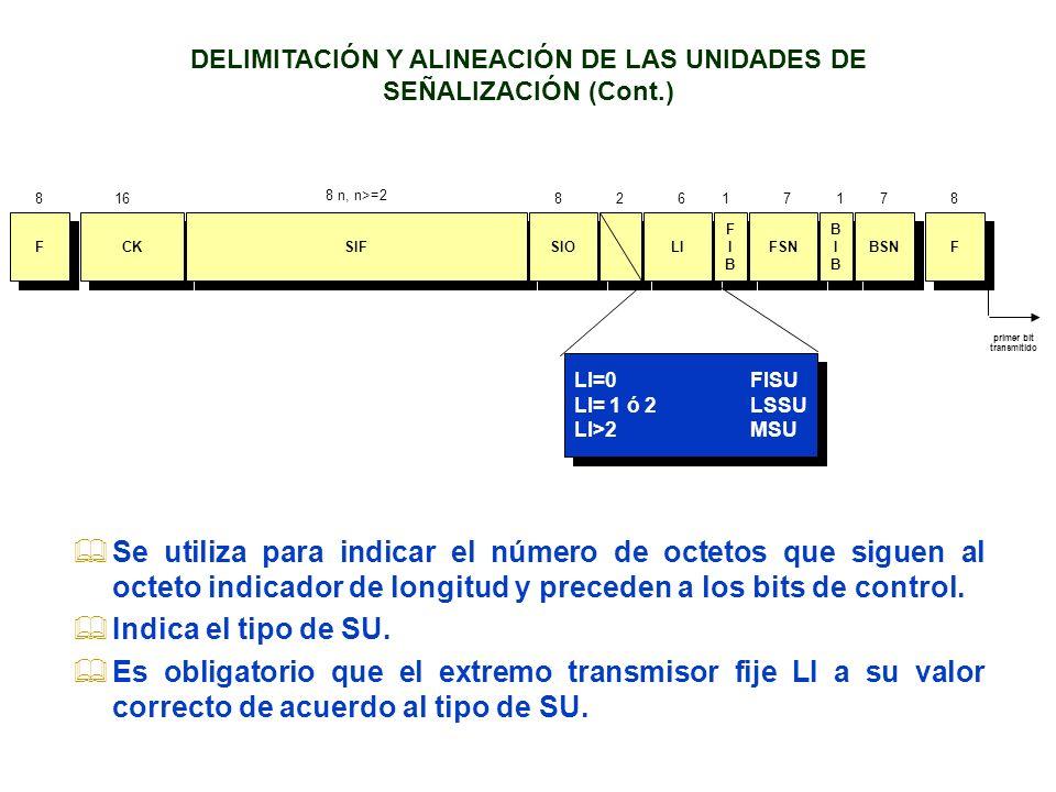 DELIMITACIÓN Y ALINEACIÓN DE LAS UNIDADES DE SEÑALIZACIÓN (Cont.)