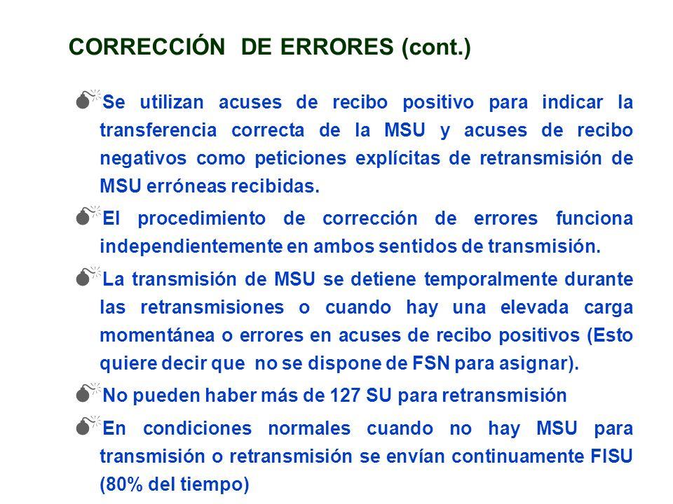 CORRECCIÓN DE ERRORES (cont.)