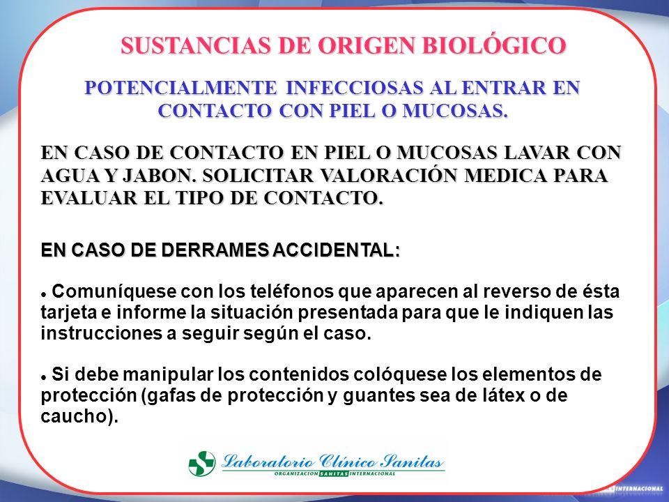 SUSTANCIAS DE ORIGEN BIOLÓGICO