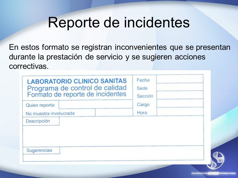 Reporte de incidentes
