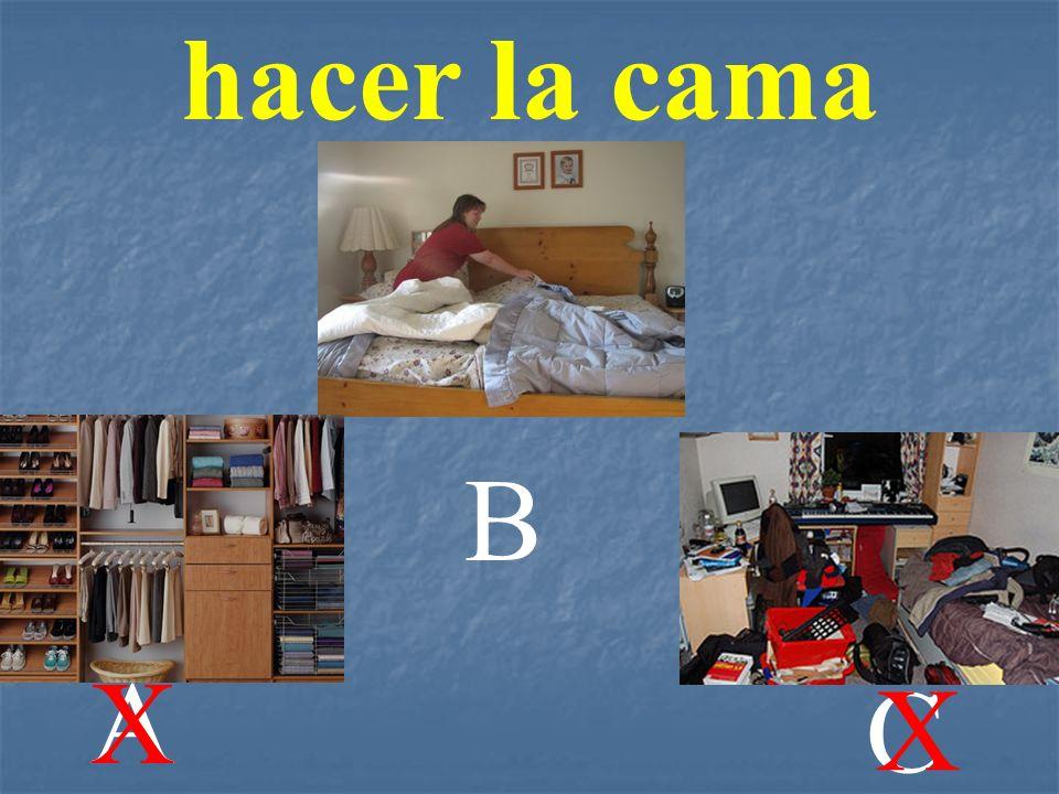 hacer la cama B A X C X