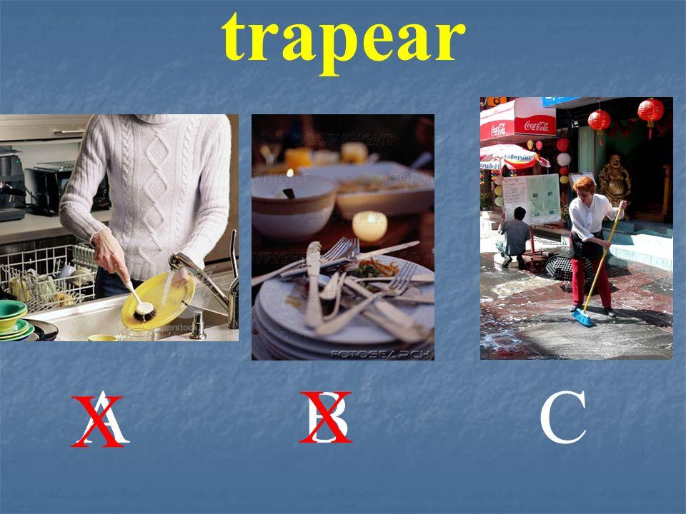 trapear A B X C X