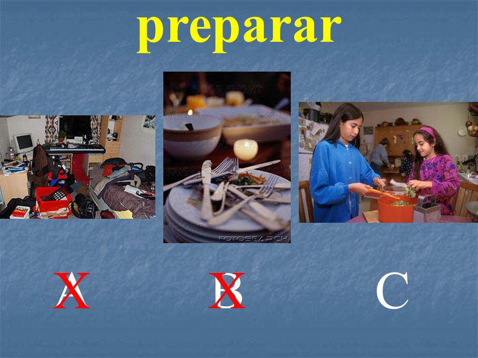 preparar A X B X C